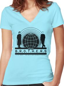 Brothers (hollow version) Women's Fitted V-Neck T-Shirt
