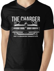 Dodge Charger Classic US Muscle Car Mens V-Neck T-Shirt
