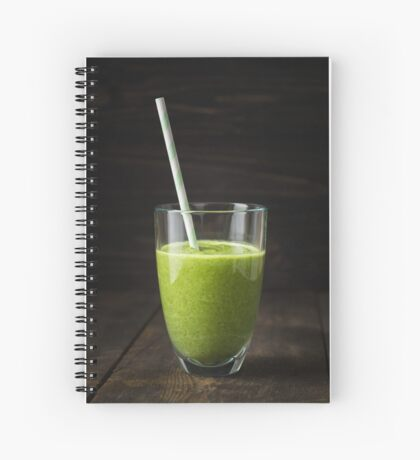 Smoothie in a glass Spiral Notebook
