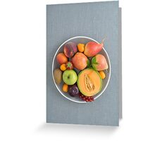 Fruits on a plate Greeting Card