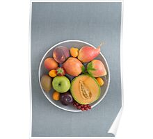 Fruits on a plate Poster