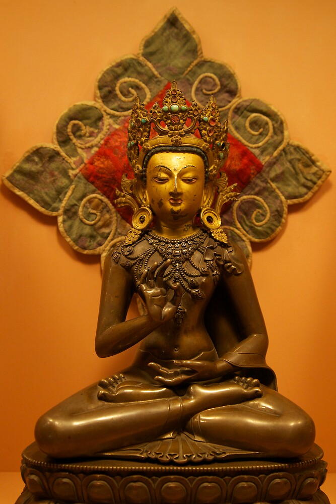 Amoghasiddhi, the Buddha of Unfailing Success, Patan Museum, Nepal by John Spies