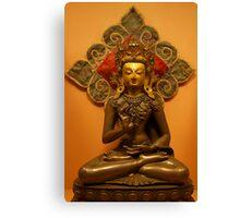 Amoghasiddhi, the Buddha of Unfailing Success, Patan Museum, Nepal Canvas Print