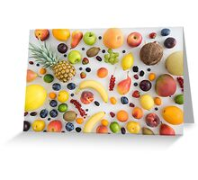 Collection of summer fruits Greeting Card