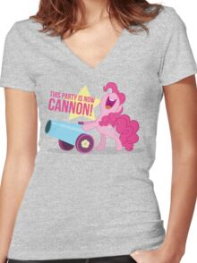Party Canon Women's Fitted V-Neck T-Shirt