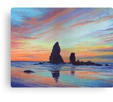 Haystack Rock, Canon Beach. USA Canvas Print
