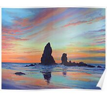 Haystack Rock, Canon Beach. USA Poster