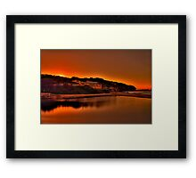 North Curly Sunrise 8/5/12 Framed Print