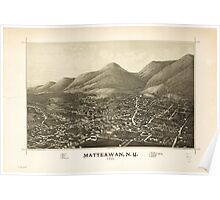 Panoramic Maps Matteawan NY Poster