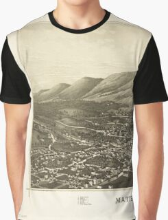 Panoramic Maps Matteawan NY Graphic T-Shirt