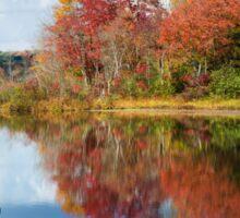 Colorful Fall Reflection Landscape Sticker