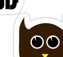 Bitches Love Owls Sticker