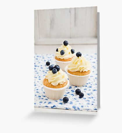 Blueberry cupcakes Greeting Card