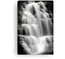 Waterfall Cascade Waterfall Landscape Art Canvas Print