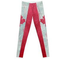 Canadian flag  leather Leggings