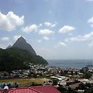 Soufriere and the Pitons, St. Lucia by nealbarnett