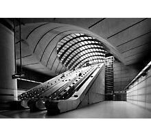 Canary Wharf DLR Station Photographic Print