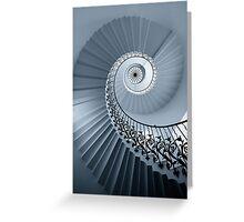 Tulip Staircase (Mono) Greeting Card