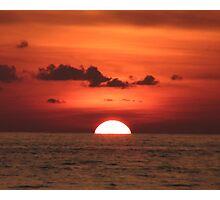 Thai Red Sunset Photographic Print