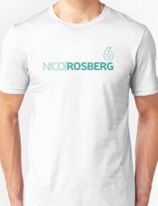 Mercedes F1 Driver: Nico Rosberg #6 T-Shirt