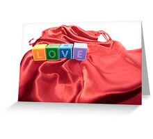 love letters on silk Greeting Card