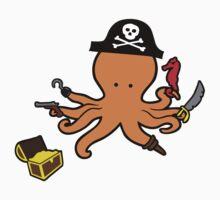 Pirate Octopus One Piece - Short Sleeve