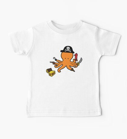 Pirate Octopus Baby Tee