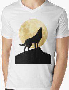 She-Wolf Mens V-Neck T-Shirt