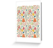 Plant Pattern Color 3 Greeting Card