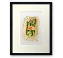 Green asparagus with salmon Framed Print