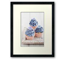 Three cupcakes Framed Print