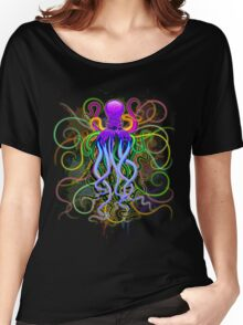 Octopus Psychedelic Luminescence Women's Relaxed Fit T-Shirt