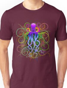 Octopus Psychedelic Luminescence Unisex T-Shirt