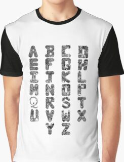 A-Z Alphabet Graphic T-Shirt