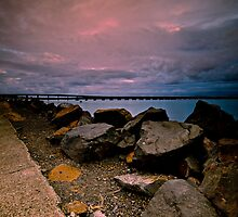 Sky, Rocks, and Bridge by bazcelt