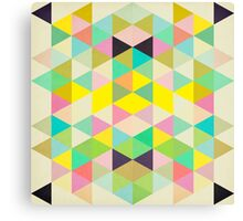 Triangles Pattern II Canvas Print