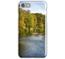 Fall Foliage River Landscape iPhone Case/Skin