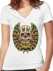 Spitshading 010 Women's Fitted V-Neck T-Shirt