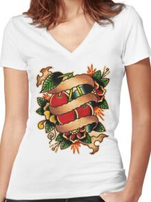 Spitshading 009 Women's Fitted V-Neck T-Shirt