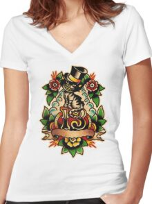 Spitshading 012 Women's Fitted V-Neck T-Shirt