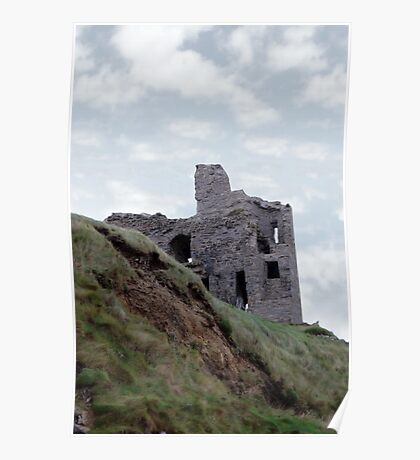 old castle ruin ballybunion Poster