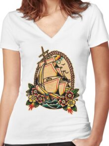 Spitshading 013 Women's Fitted V-Neck T-Shirt
