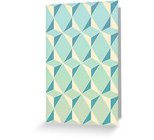 Triangles and Squares X Greeting Card