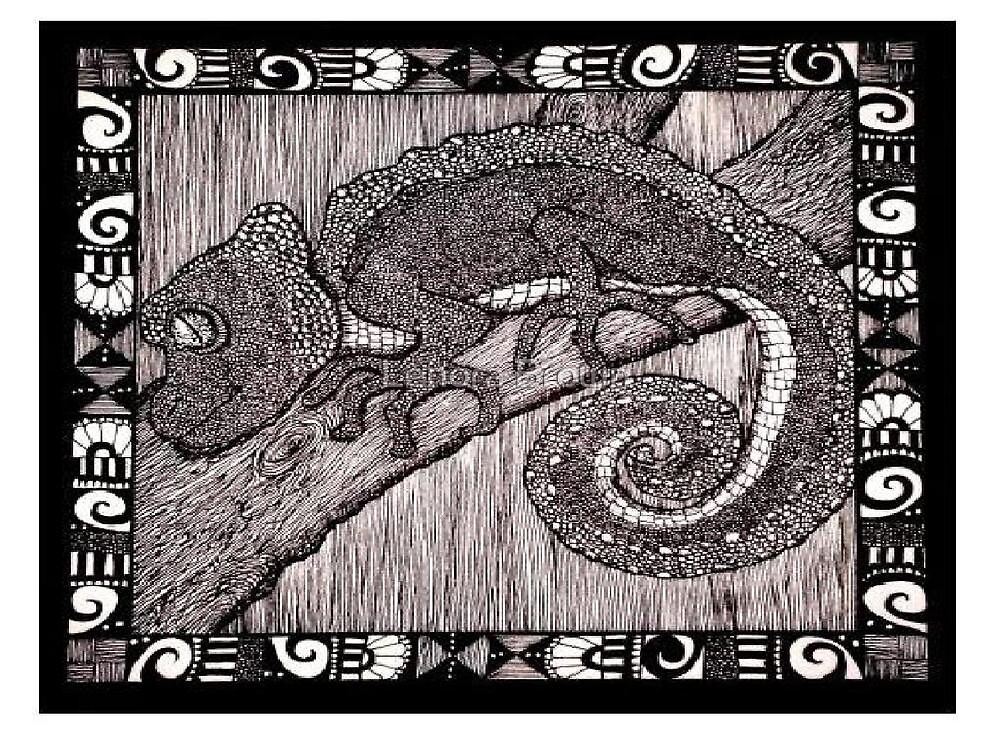Meanwhile Back In Africa: A Camelion by Lenora Brown