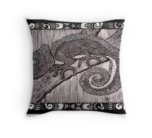 Meanwhile Back In Africa: A Camelion Throw Pillow
