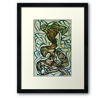 The woman with blue lips Framed Print