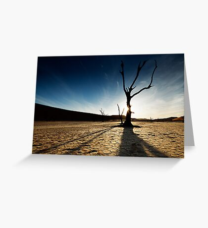 Silhouette at Deadvlei Greeting Card