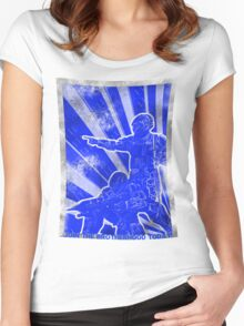 FC BLUE Army Propaganda (Weathered) Women's Fitted Scoop T-Shirt