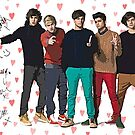One Direction Canvas Art with Autographs by kmercury