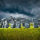 Car Henge in Alliance Nebraska after England's Stonehenge by Randall Nyhof